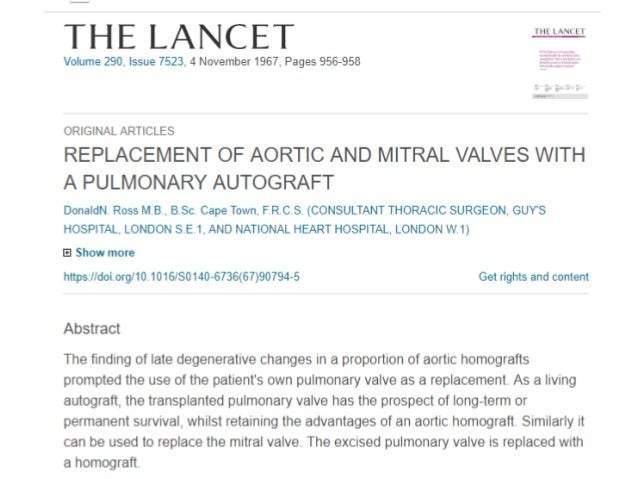 What is Ross procedure? • It is a type of aortic valve replacement whereby the diseased aortic valve is replaced with the ...