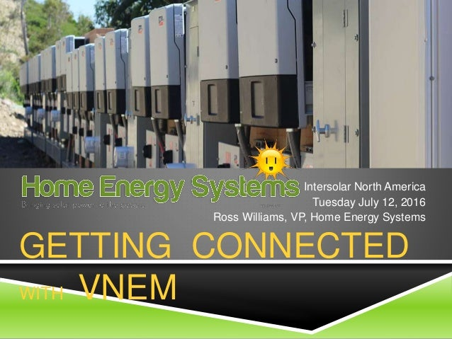 Getting Connected With Virtual Net Energy Metering Vnem