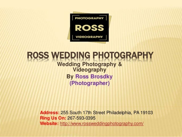 Photography and Videography Services Ross Wedding Photography