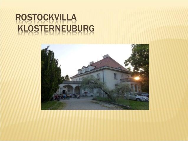 ROSTOCKVILLA KLOSTERNEUBURG