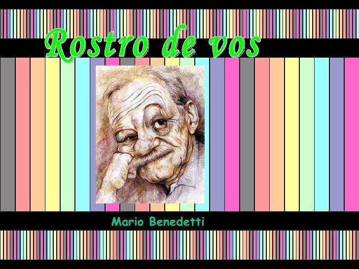 Rostro de vos Mario Benedetti