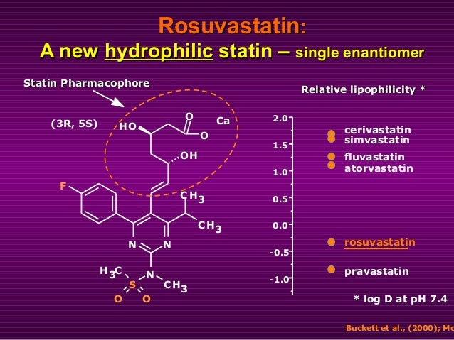 Statin PharmacophoreStatin Pharmacophore OO N N S N OH OH O O CH3 CH3 CH3 F CH3 Ca(3R, 5S) Relative lipophilicityRelative ...