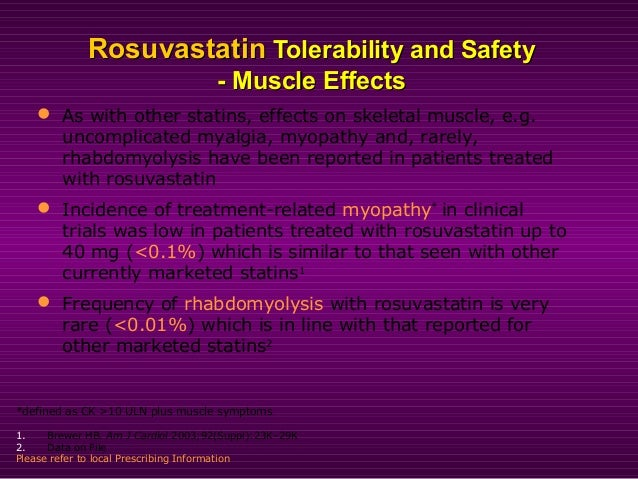 RosuvastatinRosuvastatin - Muscle Effects- Muscle Effects CK >10CK >10 xx ULN: Frequency byULN: Frequency by LDL-C Reducti...