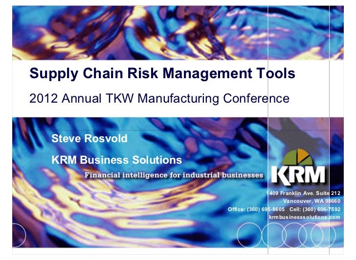 Shifting Sands in Supply Chain Risk     Three major advancements/shifts over the     past decade have significantly increa...