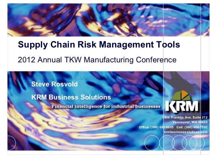 supply chain risk management pdf
