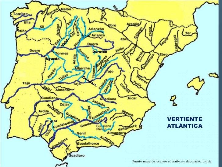 Ros y accidentes geogrficos de espaa