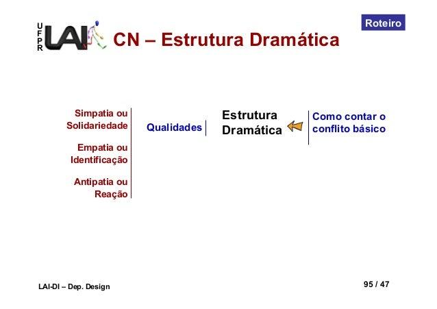 UFPRLAI-DI – Dep. Design 95 / 47RoteiroComo contar oconflito básicoQualidadesSimpatia ouSolidariedadeEmpatia ouIdentificaç...