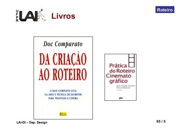 UFPRLAI-DI – Dep. Design 95 / 5RoteiroLivros
