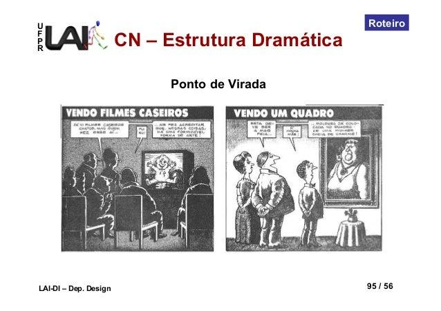 UFPRLAI-DI – Dep. Design 95 / 56RoteiroCN – Estrutura DramáticaPonto de Virada