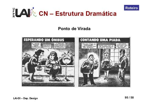UFPRLAI-DI – Dep. Design 95 / 58RoteiroCN – Estrutura DramáticaPonto de Virada