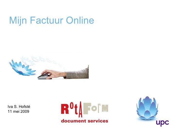 Mijn Factuur Online Iva S. Hofsté 11 mei 2009