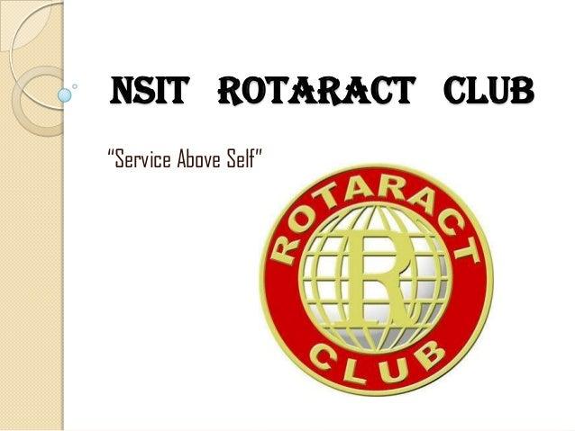 "NSIT ROTARACT CLUB ""Service Above Self"""