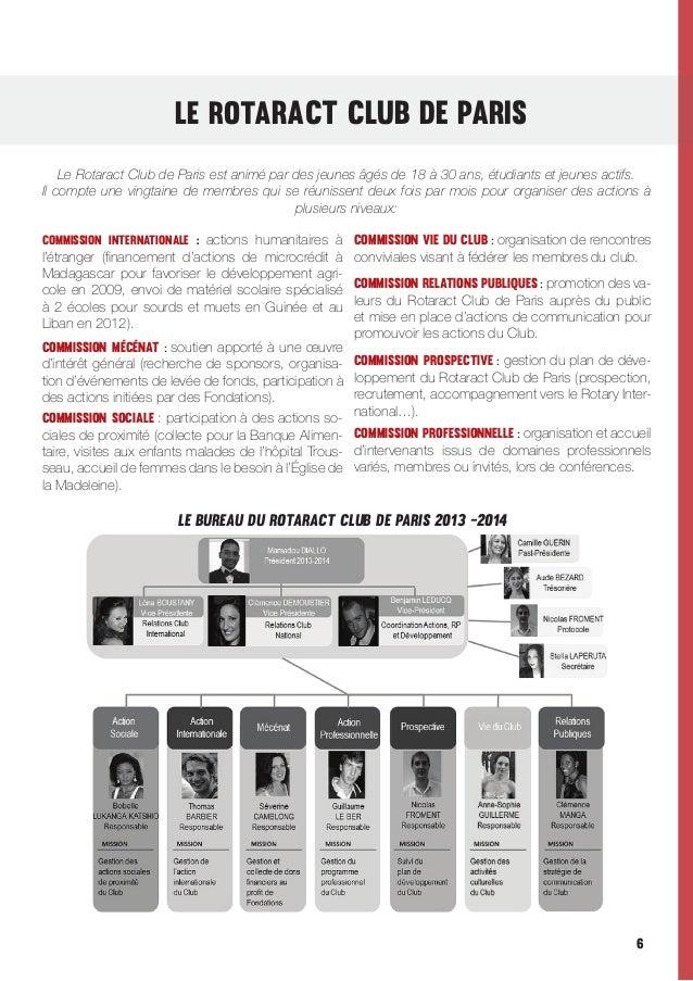 Le ROTaRACt CLUB DE PARIS Le Rotaract Club de Paris est animé par des jeunes âgés de 18 à 30 ans, étudiants et jeunes acti...