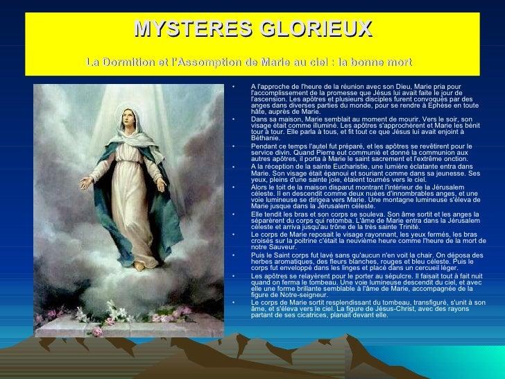 <ul><li>A l'approche de l'heure de la réunion avec son Dieu, Marie pria pour l'accomplissement de la promesse que Jésus lu...