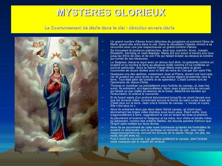 <ul><li>Un grand nombre d'âmes furent délivrées du purgatoire et suivirent l'âme de Marie quand elle entra dans le ciel. D...