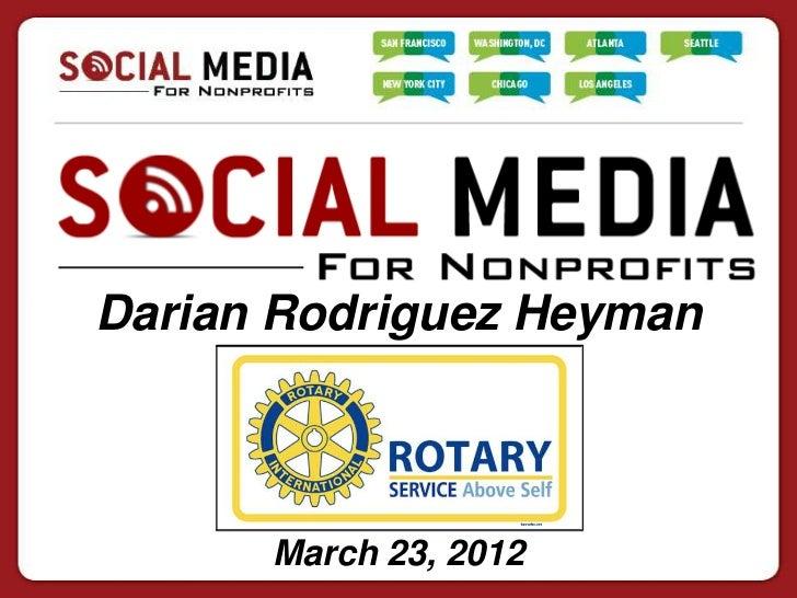 Darian Rodriguez Heyman      March 23, 2012