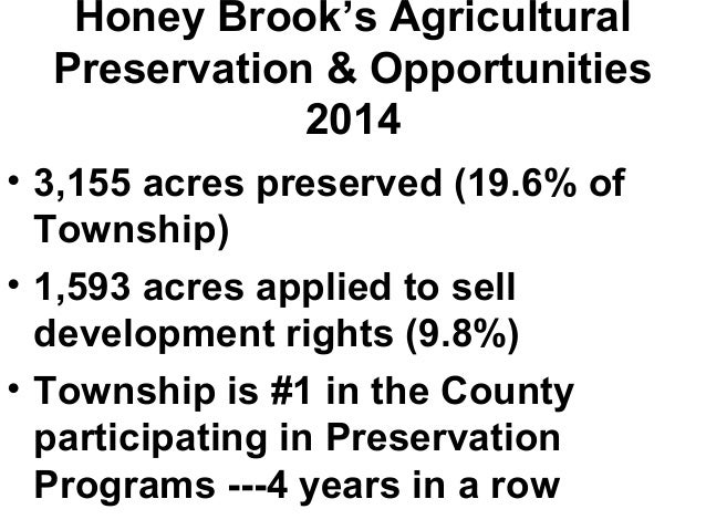 Honey Brook Townshop Saving Farms Saving Water