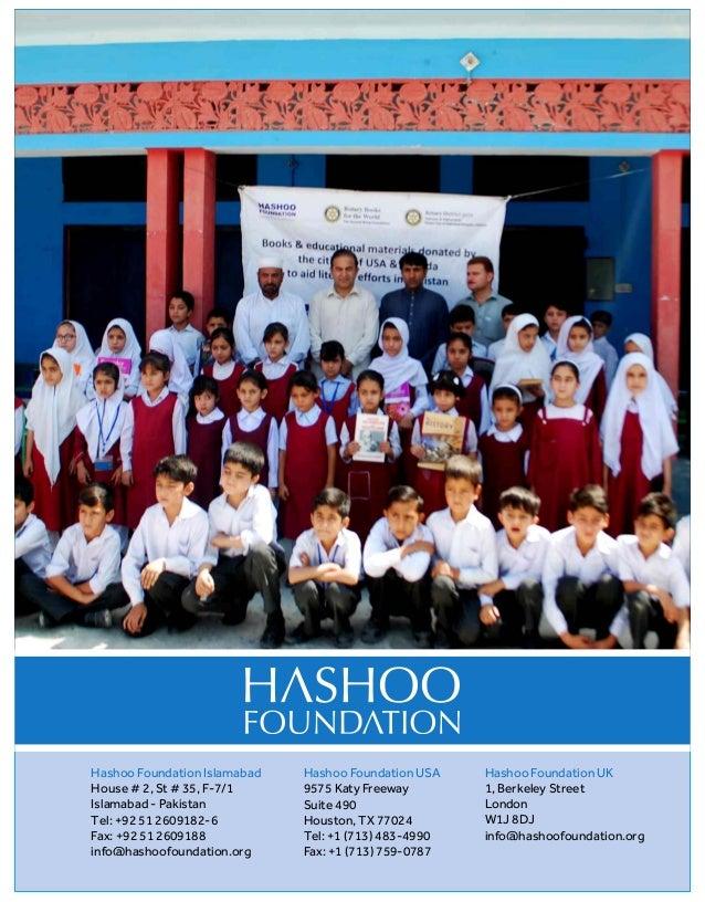 Pakistan - Hashoo Foundation and Rotary Club Rawalpindi