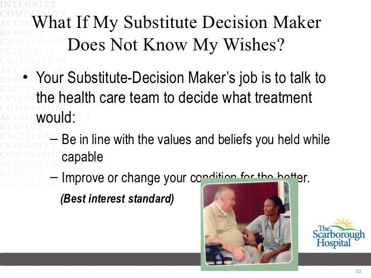 capacity decision Decisional capacity is decision-specific a patient may be competent to choose a dpoa or decide where he will live, but not to make a complicated decision about the best kind of surgery.