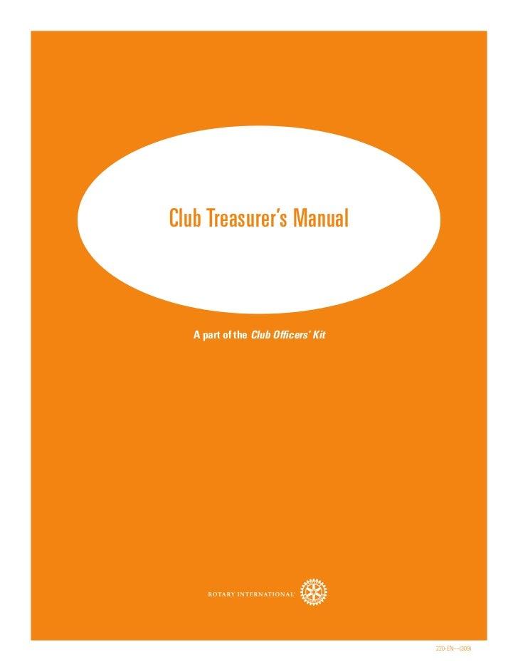 Rotary club treasurer's manual