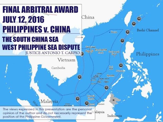 Final Arbitral Award: July 12, 2016