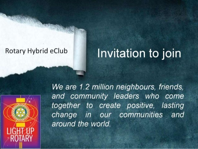 Invitation to join Rotary Hybrid eClub of Pune (Proposed) - RI District 3131