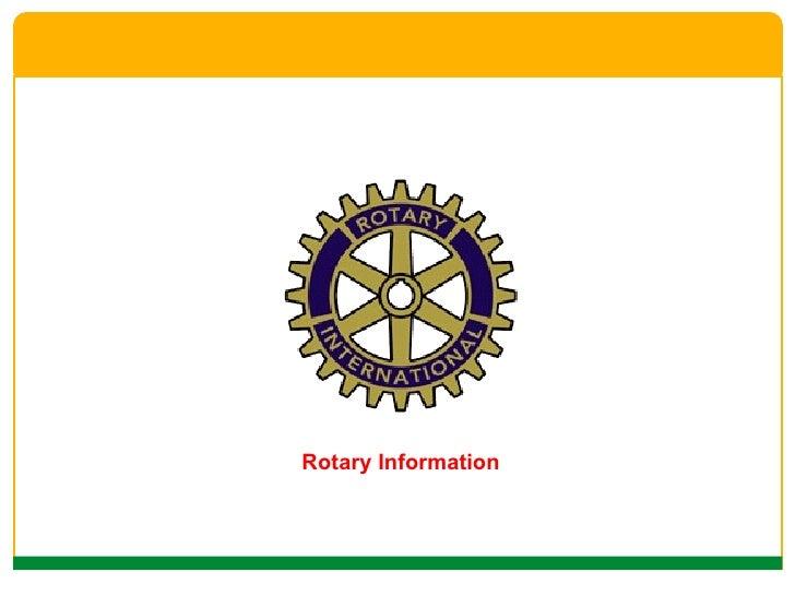 <ul><li>Rotary Information </li></ul>