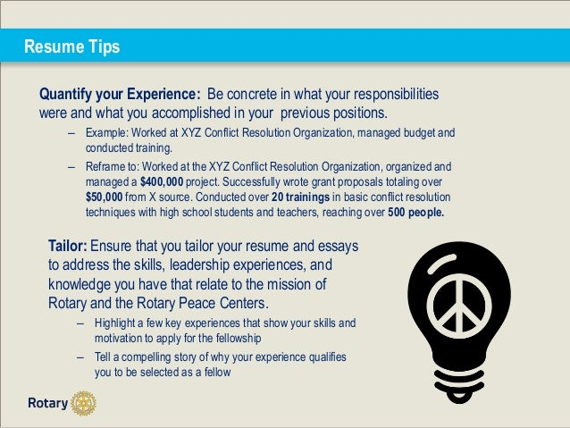 rotary peace fellowships how to strengthen your application 10