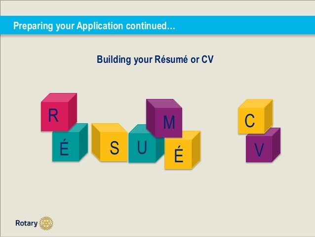 7 preparing your application continued building your rsum