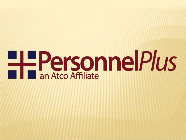 WHAT IS PERSONNELPLUS? PersonnelPlus is a program of the Athens  County Board of Developmental Disabilities  & an Atco af...
