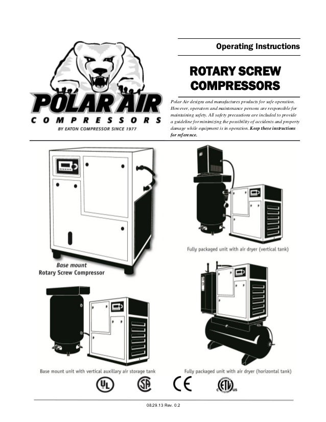 Rotary Screw Compressors Operating Instructions Manual