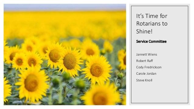 Rotary Club of Topeka Service Committee 2020 Slide 2