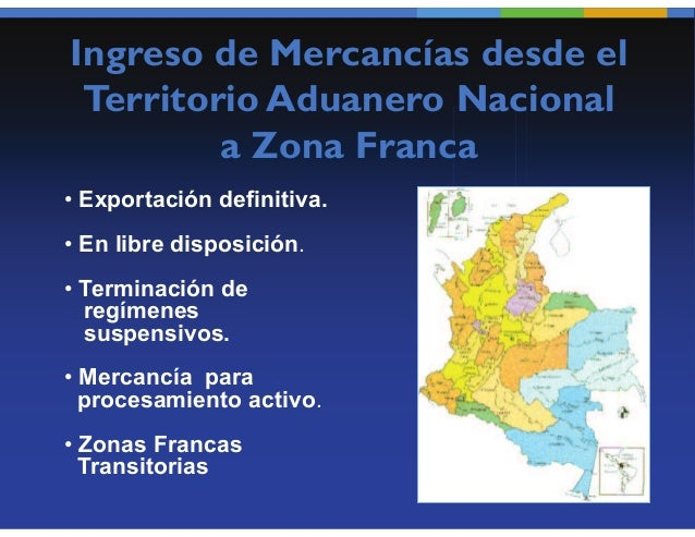 Operaciones entre Zonas        Francas       Procesamiento          Parcial      Tránsito Aduanero