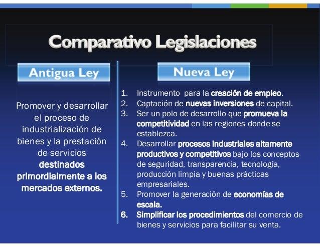 1.   Instrumento para la creación de empleo.Promover y desarrollar   2.   Captación de nuevas inversiones de capital.     ...