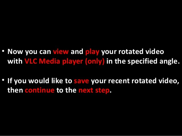 Rotate and save video with vlc media player v212 11 ccuart Images