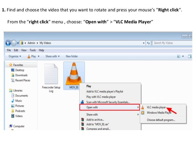 Rotate and save video with vlc media player v212 5 1 ccuart Image collections