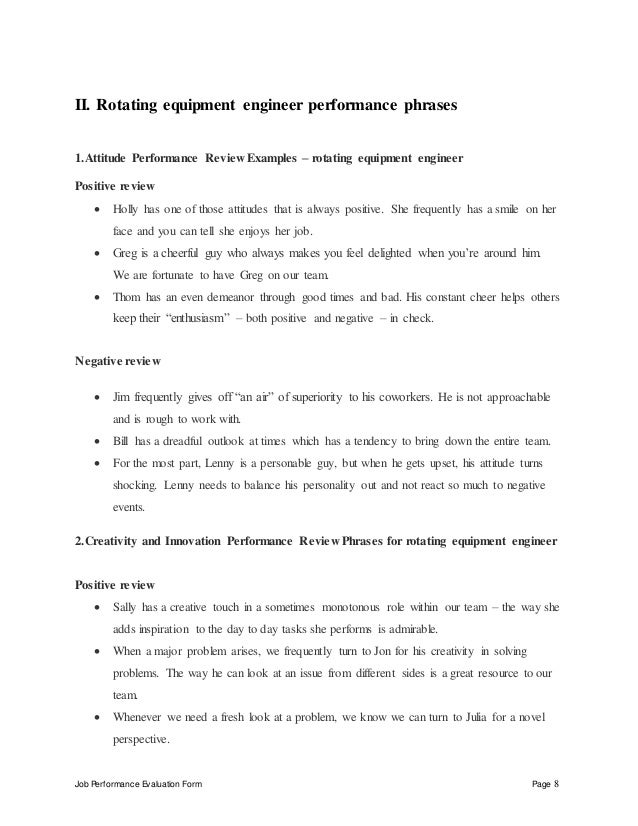 rotating-equipment-engineer-perfomance-appraisal-2-8-638 Team Performance Appraisal Examples on for concept plans, for students, satisfactory employee,