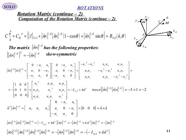 Rotation in 3d Space: Euler Angles, Quaternions, Marix