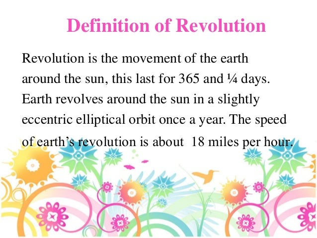 Rotation and revolution powerpoint