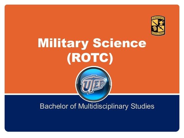 Military Science (ROTC) Bachelor of Multidisciplinary Studies