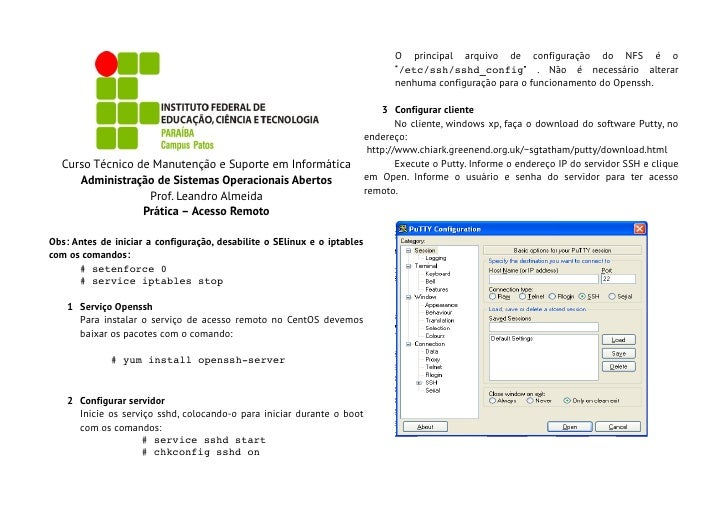 O principal arquivo de configuração do NFS é o                                                                            ...