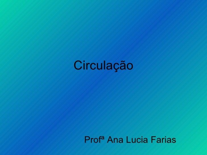 Circulação Profª Ana Lucia Farias