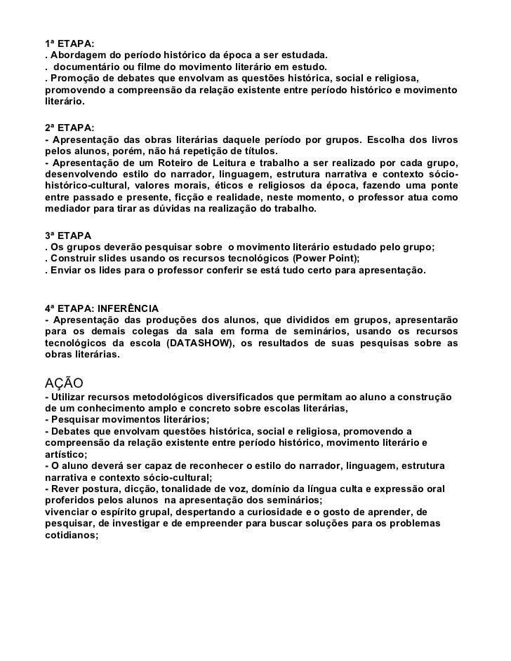 Roteiro de Leitura -Literaturas brasileira e portuguesa Slide 2