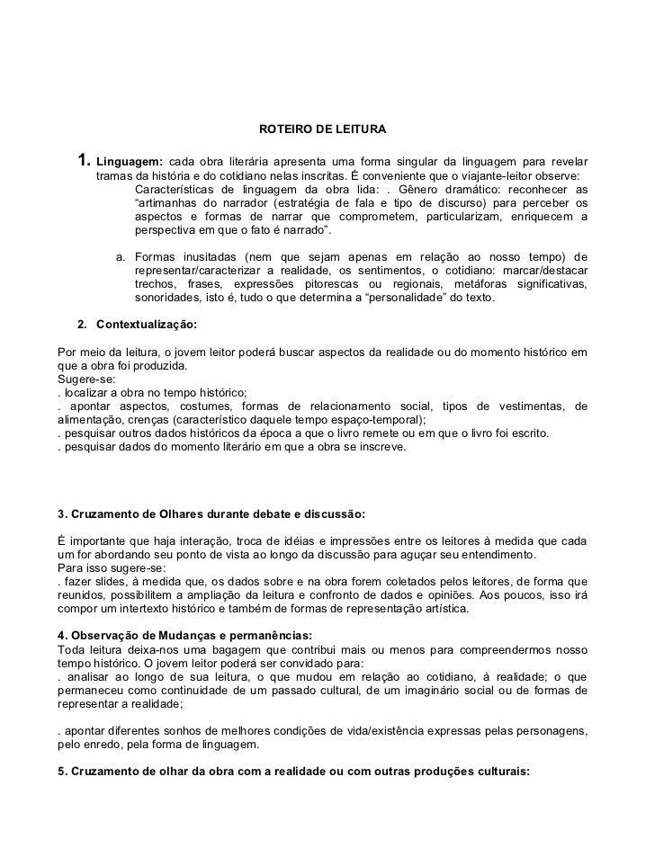 Roteiro de Leitura -Literaturas brasileira e portuguesa Slide 3