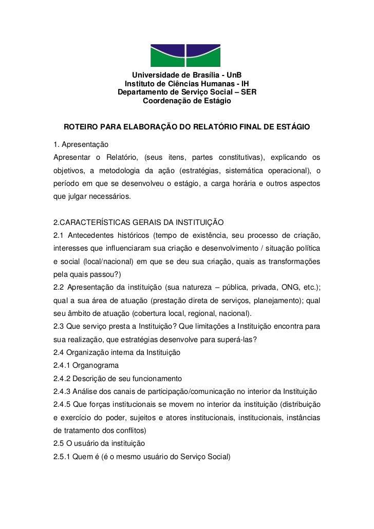 Universidade de Brasília - UnB                     Instituto de Ciências Humanas - IH                   Departamento de Se...