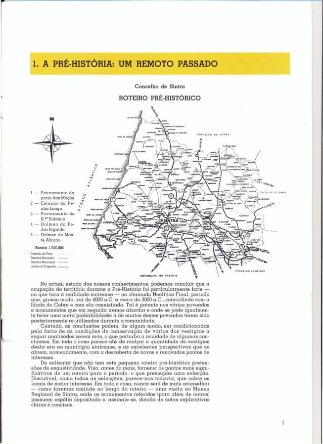 1. A PRÉ-HISTÓRIA: UM REMOTO PASSADO                                             Concelho de Sintra                       ...