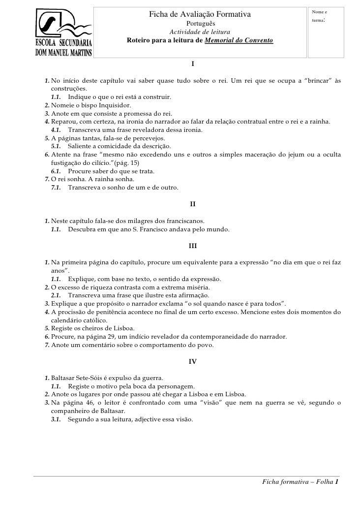 Nome e                                    Ficha de Avaliação Formativa                                                    ...
