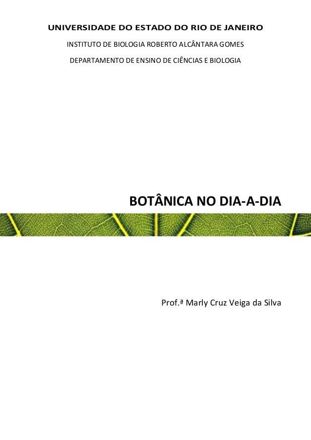 UNIVERSIDADE DO ESTADO DO RIO DE JANEIRO INSTITUTO DE BIOLOGIA ROBERTO ALCÂNTARA GOMES DEPARTAMENTO DE ENSINO DE CIÊNCIAS ...
