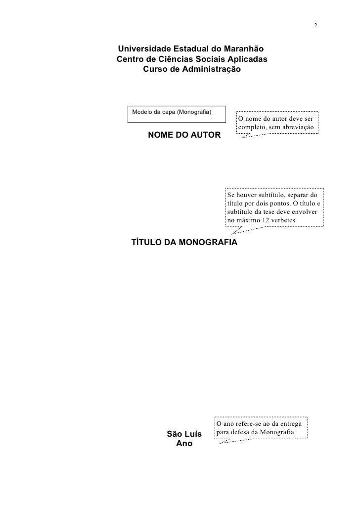 Roteiro para monografia