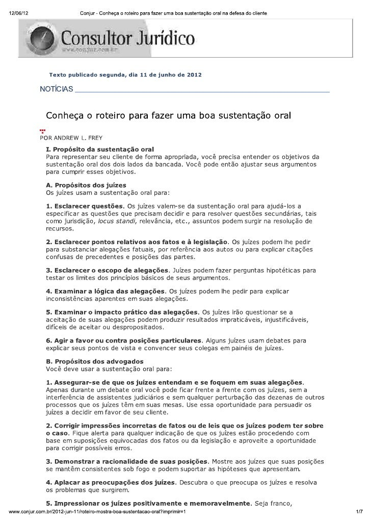 Roteiro para fazer uma boa sustentação oral brasilia advogados